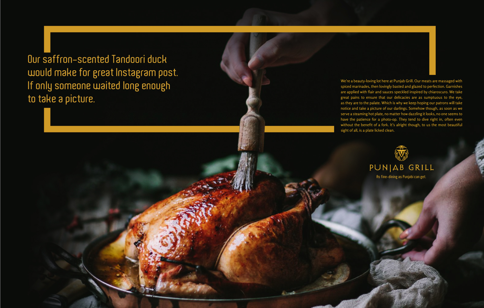 'As fine-dining as Punjabi can get' Campaign